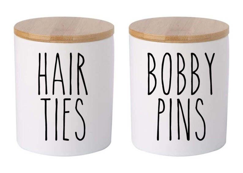 bobby pins hair tie decals