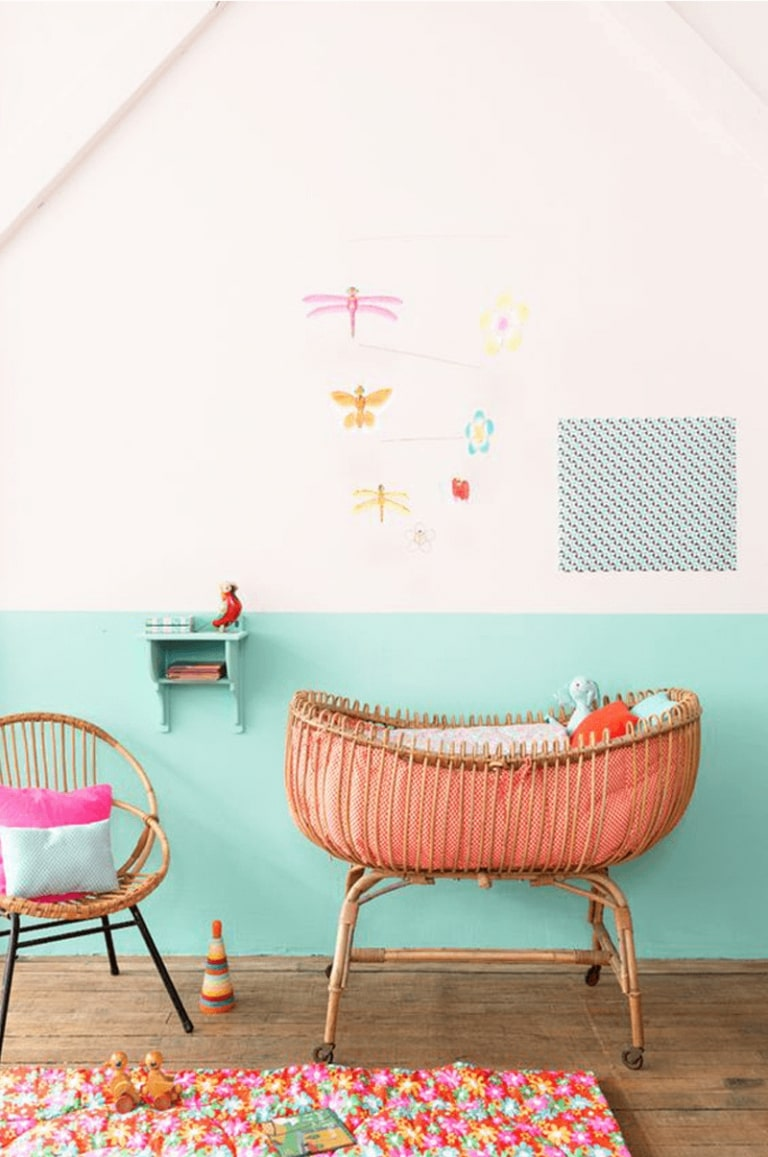 colourblock wall nursery