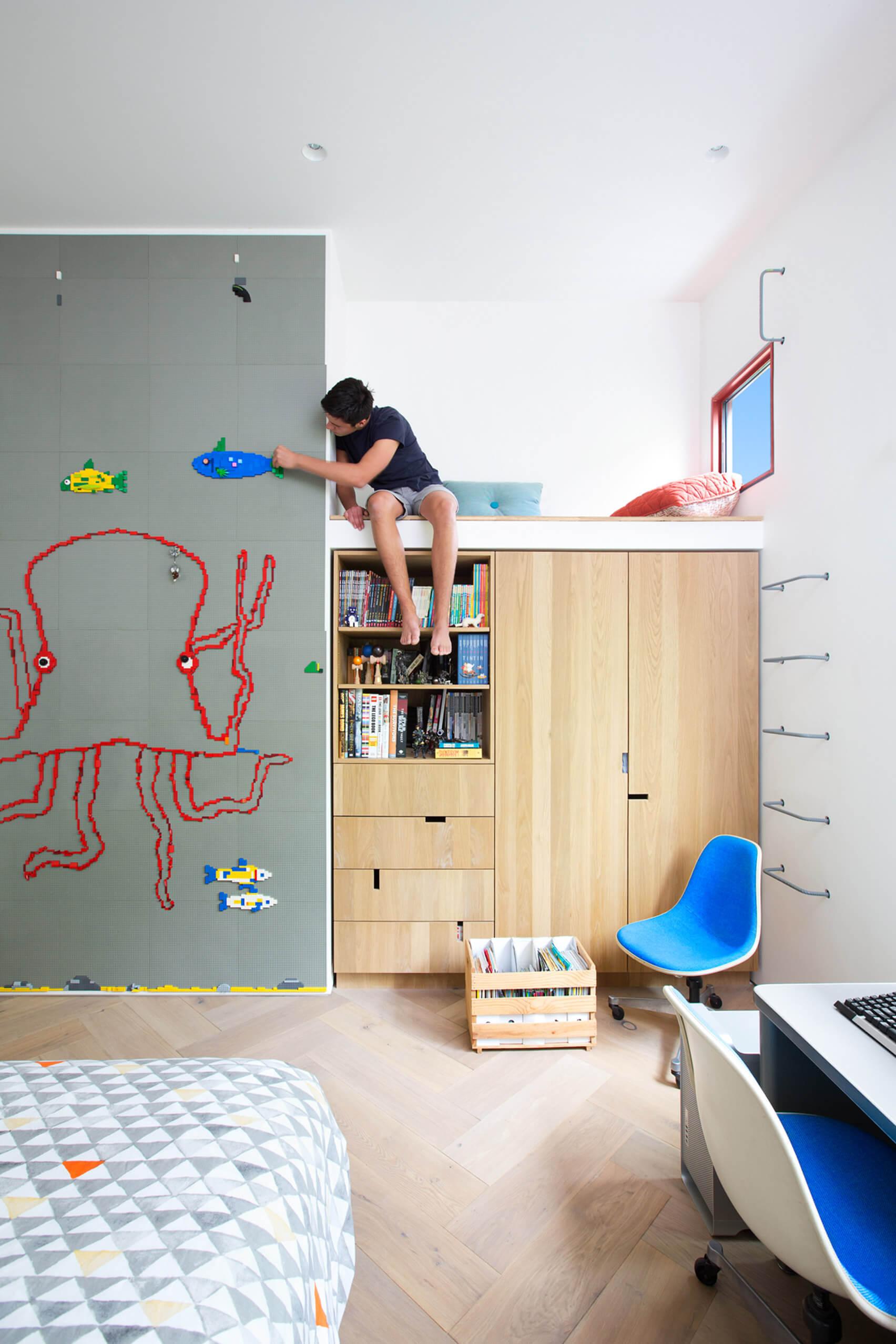 colourblock wall teen room