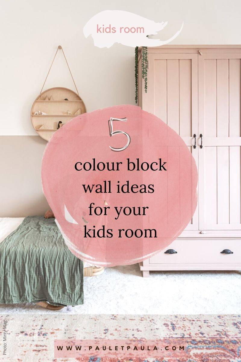 kids room clour block wall