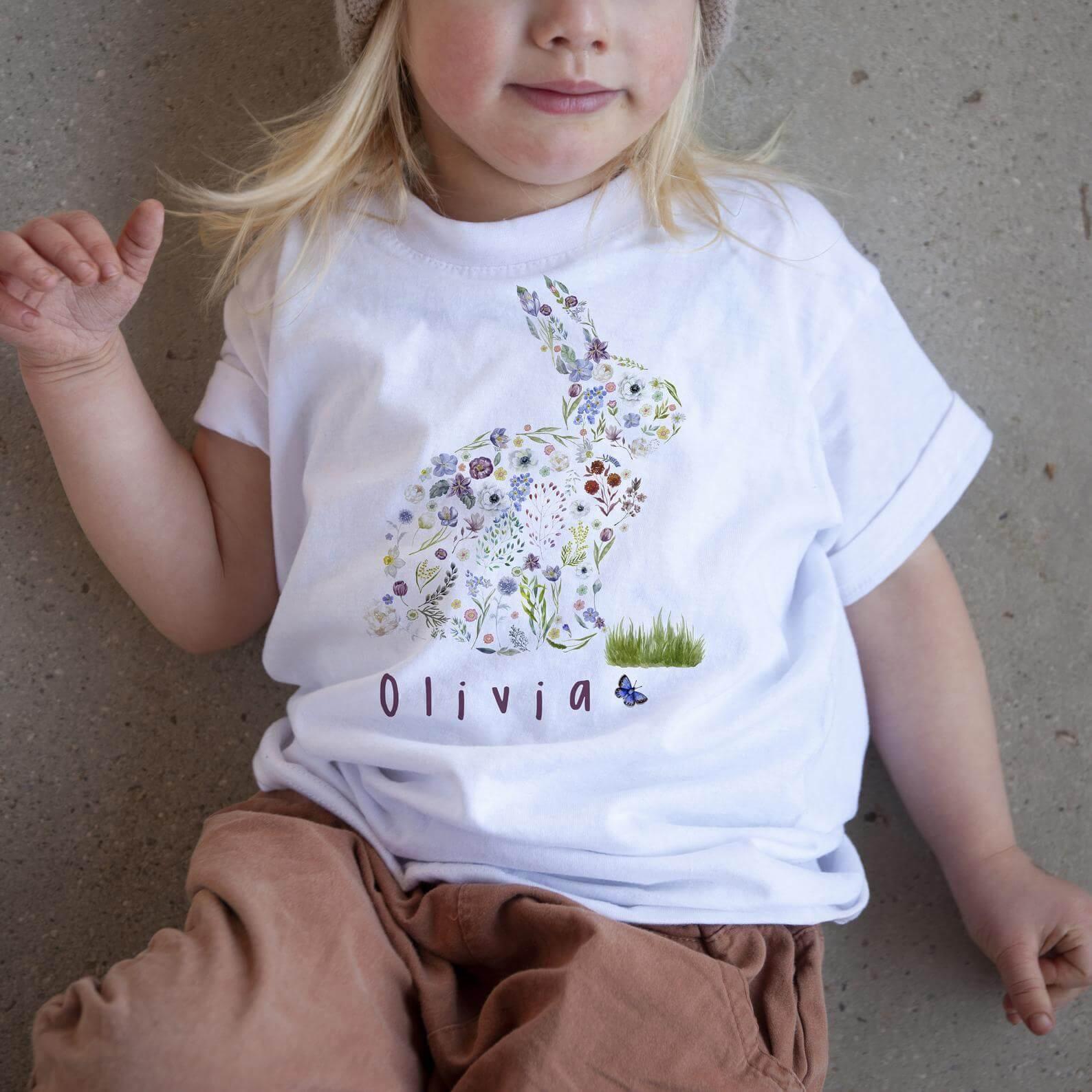 personalised easter shirt children