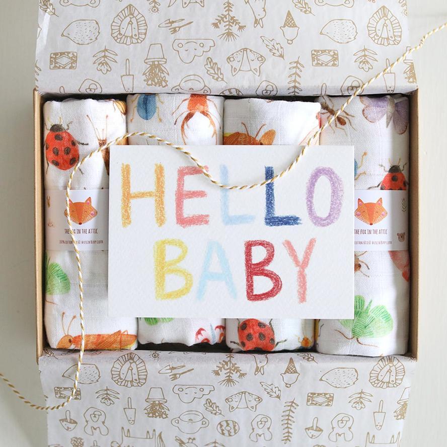 baby muslins gift box