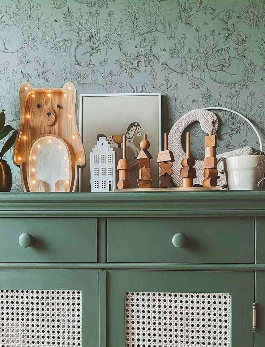 Handmade wooden lamps kids room